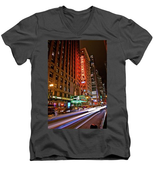 The Oriental Theater Chicago Men's V-Neck T-Shirt