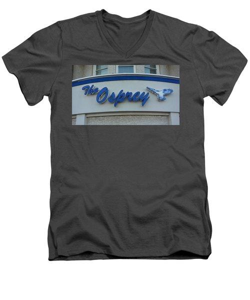 The Osprey Marqee Men's V-Neck T-Shirt by Melinda Saminski