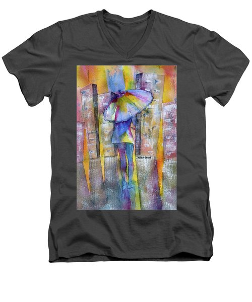 The Other Girl In The City Men's V-Neck T-Shirt