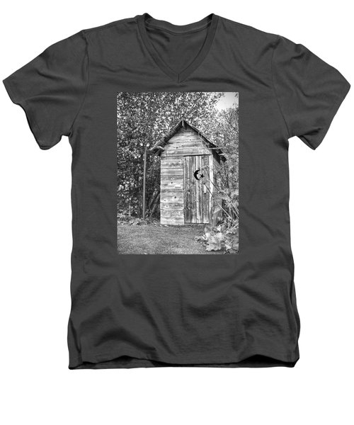 The Outhouse Bw Men's V-Neck T-Shirt