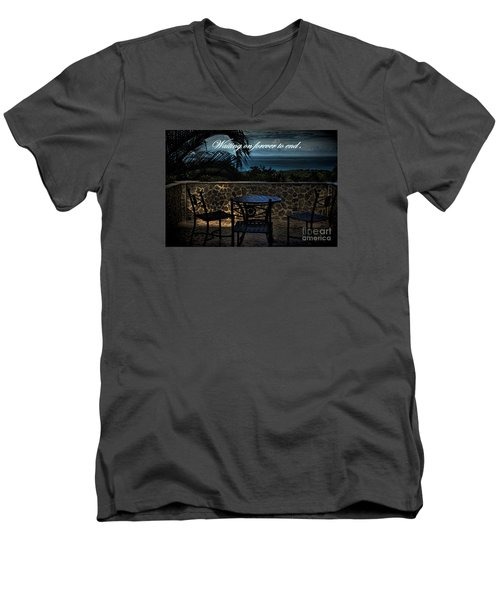Men's V-Neck T-Shirt featuring the photograph Pain That Last Forever by Pamela Blizzard