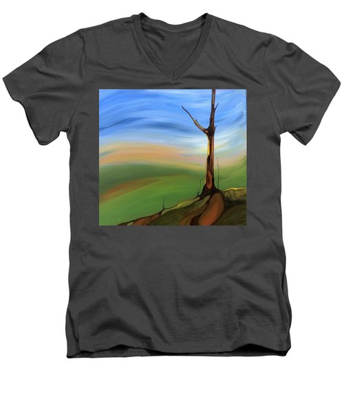 The Painted Sky Men's V-Neck T-Shirt by Pat Purdy