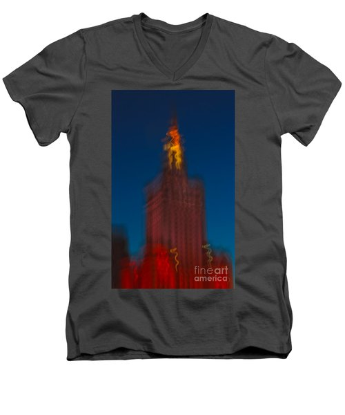 The Palace Of Culture And Science Men's V-Neck T-Shirt