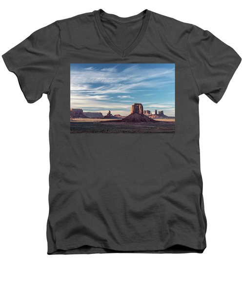 Men's V-Neck T-Shirt featuring the photograph The Past by Jon Glaser
