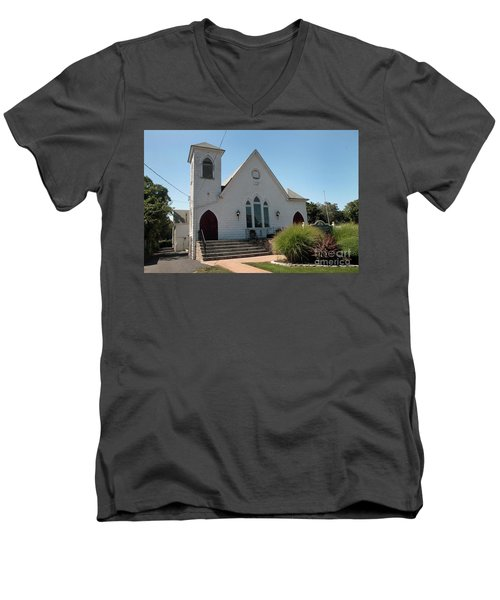 The Patchogue Seventh Day Adventist Church Men's V-Neck T-Shirt