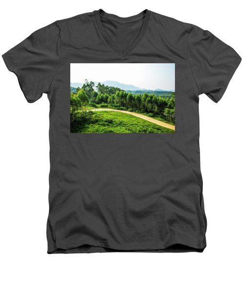 The Path In The Mountain Men's V-Neck T-Shirt