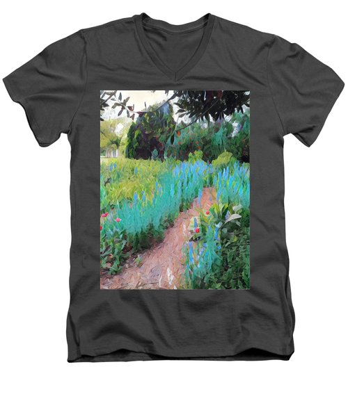 The Path Less Traveled Men's V-Neck T-Shirt