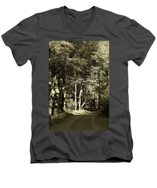 Men's V-Neck T-Shirt featuring the photograph The Path Less Traveled by John Schneider