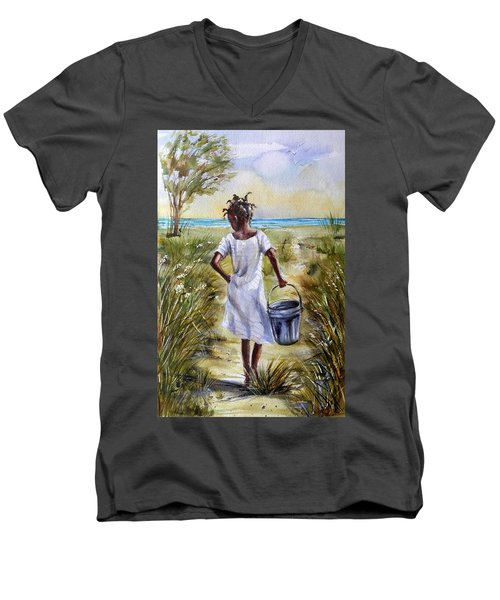 The Path To The Sea Men's V-Neck T-Shirt