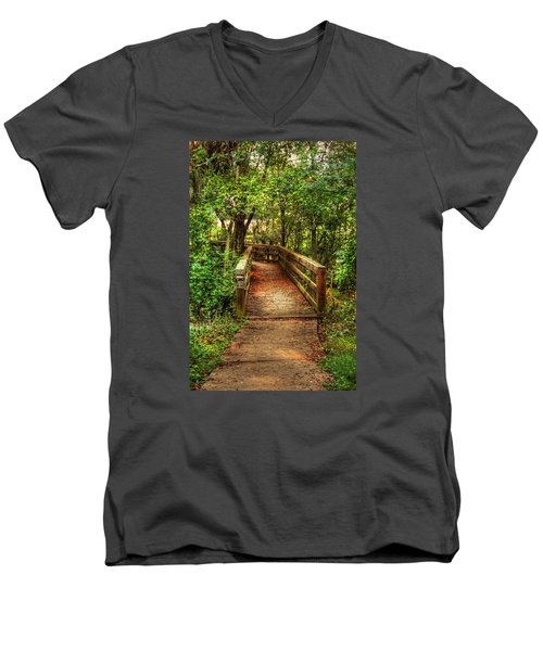 The Pathway Men's V-Neck T-Shirt by Ester  Rogers