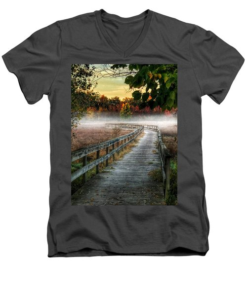 The Peaceful Path Men's V-Neck T-Shirt