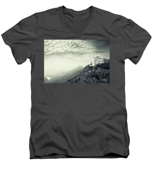 The Peak Men's V-Neck T-Shirt by Joseph Westrupp