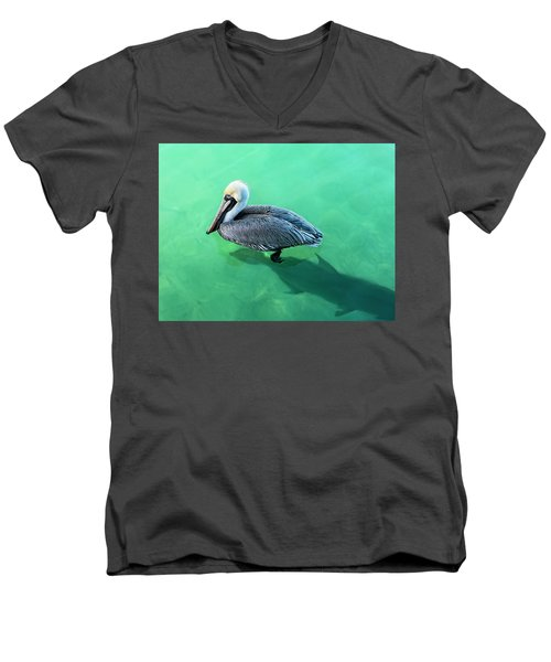 The Pelican And The Shark Men's V-Neck T-Shirt
