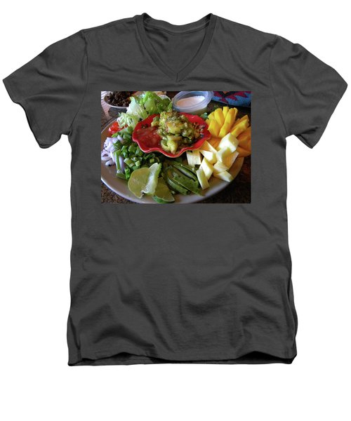 The Perfect Taco  Men's V-Neck T-Shirt by Sian Lindemann
