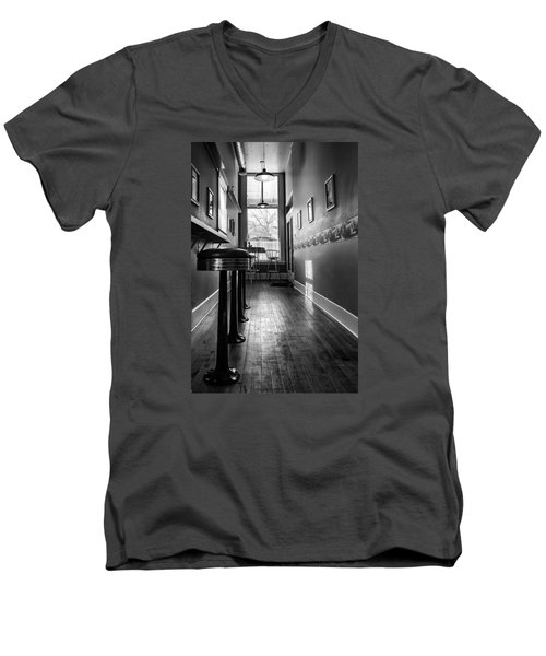 Men's V-Neck T-Shirt featuring the photograph The Pie Shop by Dan Traun