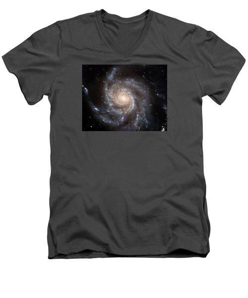 The Pinwheel Galaxy  Men's V-Neck T-Shirt by Hubble Space Telescope