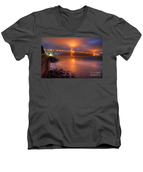 The Place Where Romance Starts Men's V-Neck T-Shirt by William Lee