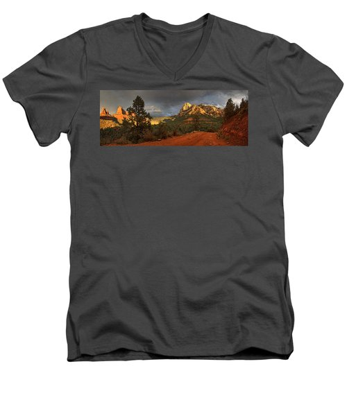 The Play Of Light Men's V-Neck T-Shirt