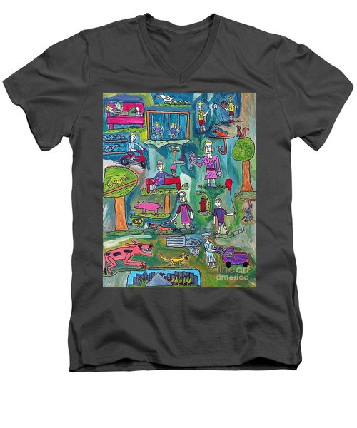 The Playground Men's V-Neck T-Shirt
