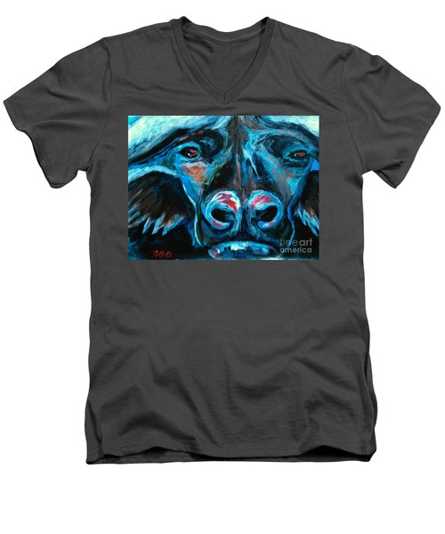 The Poaching Stops Now Men's V-Neck T-Shirt by George I Perez