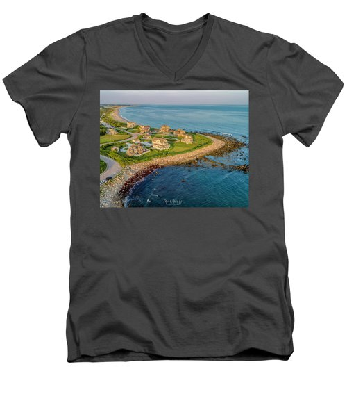 The Point At Weekapaug Men's V-Neck T-Shirt