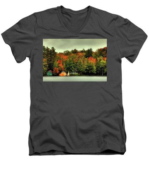 The Pond In Old Forge Men's V-Neck T-Shirt