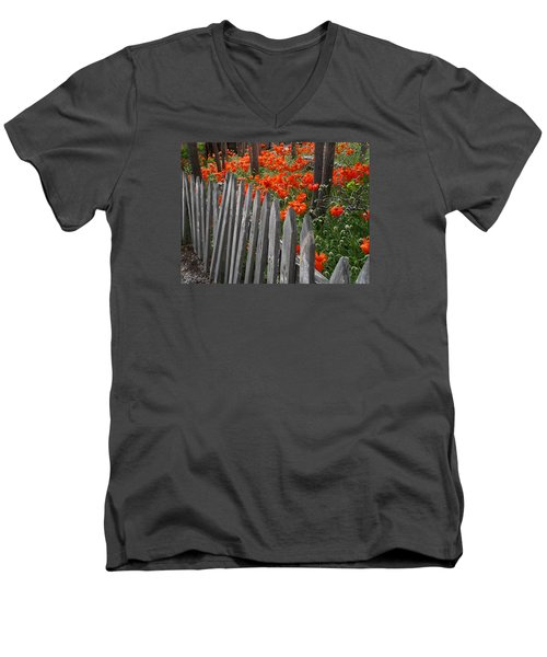 The Poppy Fence Men's V-Neck T-Shirt
