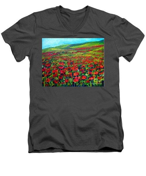 The Poppy Fields Men's V-Neck T-Shirt