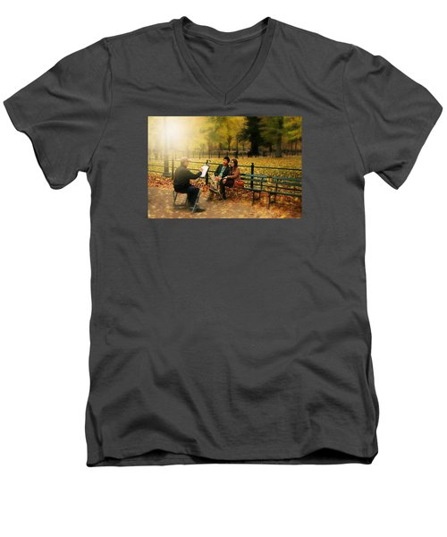 The Portraiture Men's V-Neck T-Shirt by Diana Angstadt