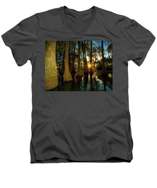The Pow Wa Of The Light Men's V-Neck T-Shirt by Kimo Fernandez