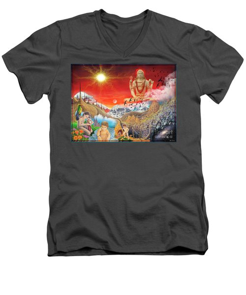 The Power Of Different Gods Men's V-Neck T-Shirt