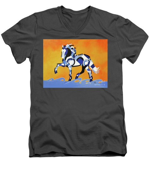 The Power Of Equus Men's V-Neck T-Shirt