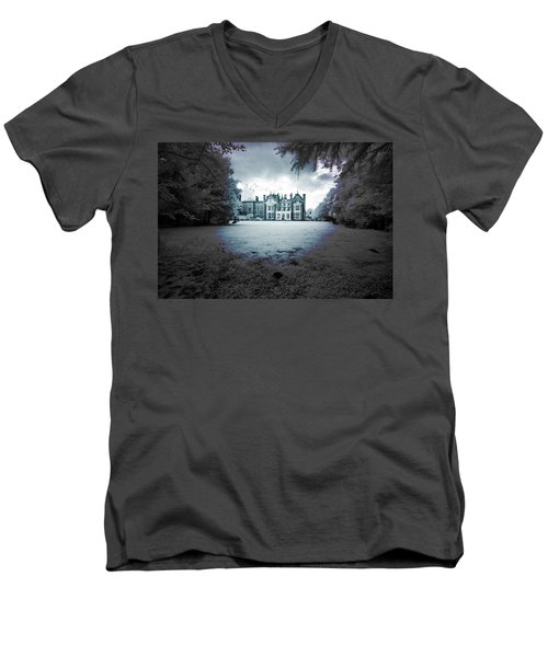 Men's V-Neck T-Shirt featuring the photograph The Priory  by Keith Elliott