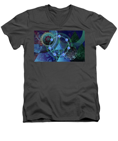 The Prism Of Time Men's V-Neck T-Shirt by Kenneth Armand Johnson