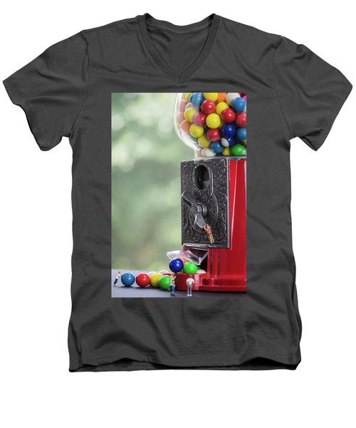 The Problem With Gumball Machines Men's V-Neck T-Shirt