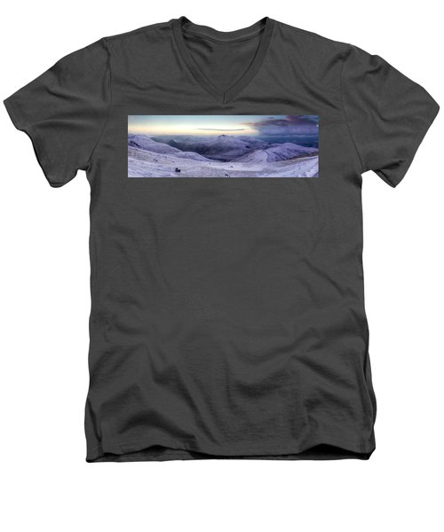 The Purple Headed Mountains Men's V-Neck T-Shirt