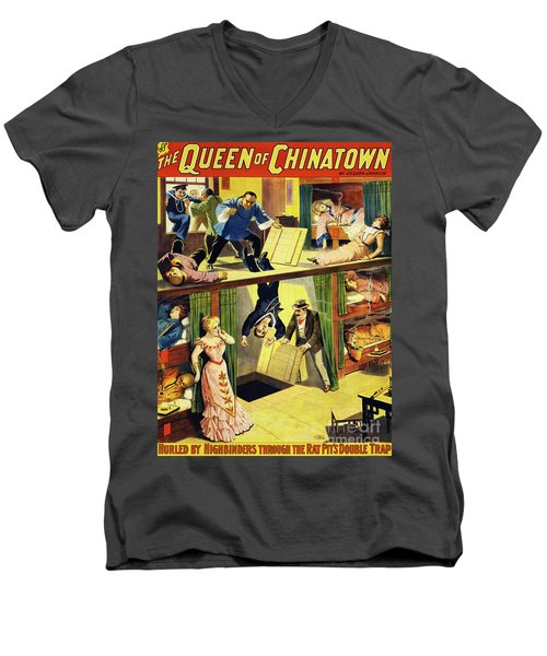 The Queen Of Chinatown Men's V-Neck T-Shirt