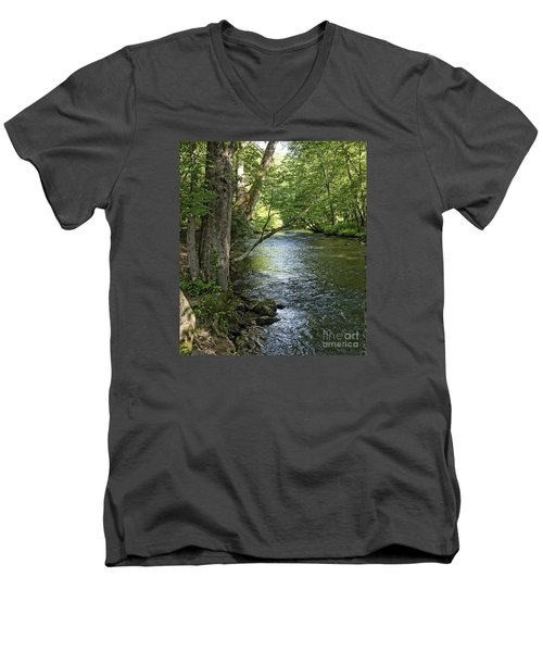 The Quiet Waters Flow Men's V-Neck T-Shirt