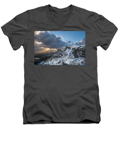 The Quiraing Just After Dawn Men's V-Neck T-Shirt