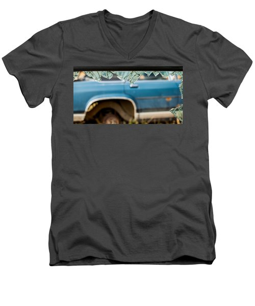 Men's V-Neck T-Shirt featuring the photograph The Ragged Edge by Fran Riley