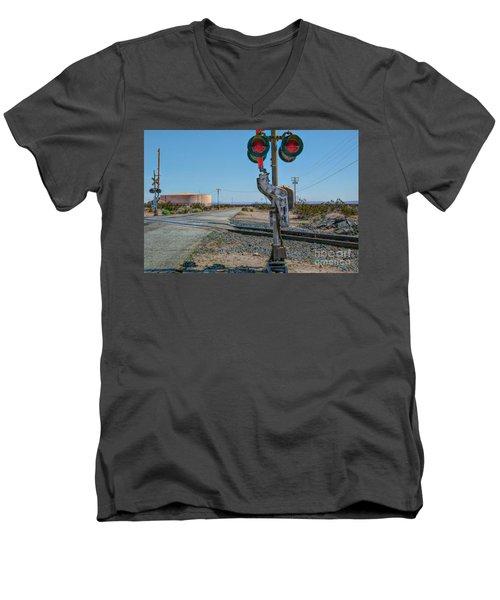 The Railway Crossing Men's V-Neck T-Shirt