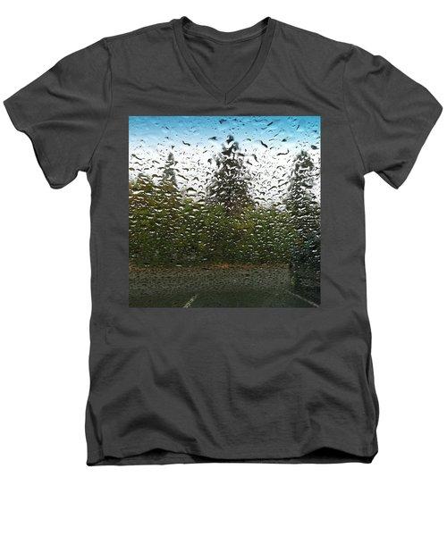 The Rain Was So Nice Today And I Got A Men's V-Neck T-Shirt