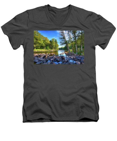 The Raquette River Men's V-Neck T-Shirt by David Patterson
