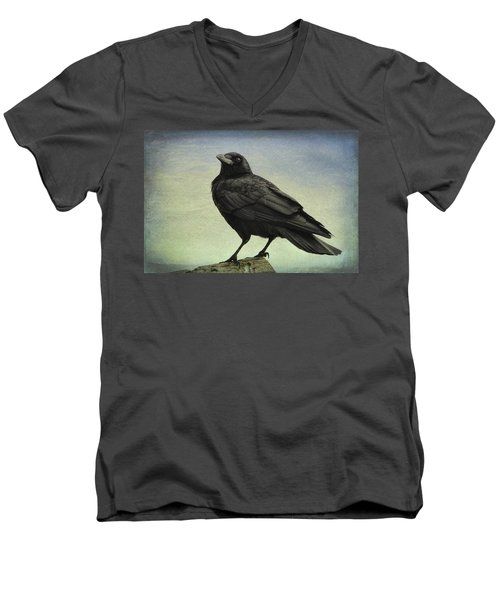 The Raven - 365-9 Men's V-Neck T-Shirt by Inge Riis McDonald