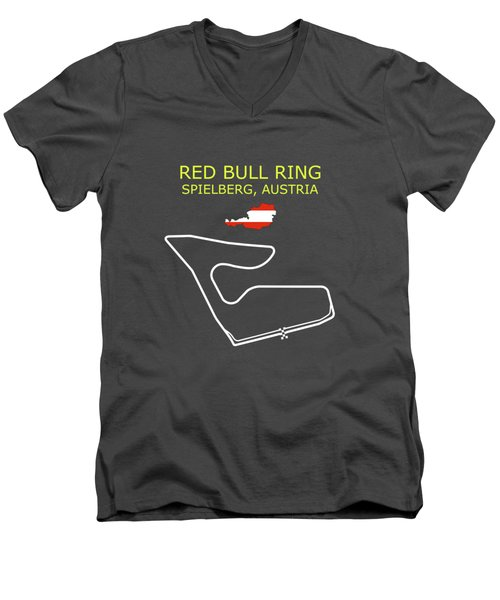 The Red Bull Ring Circuit Men's V-Neck T-Shirt
