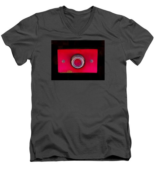 The Red Button Men's V-Neck T-Shirt