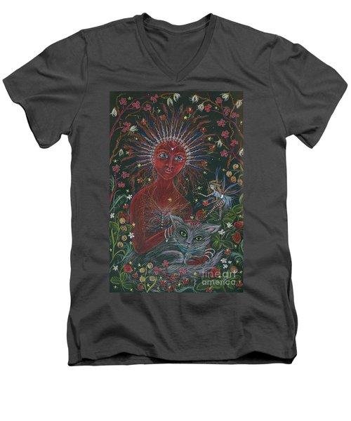 The Red Queen Men's V-Neck T-Shirt