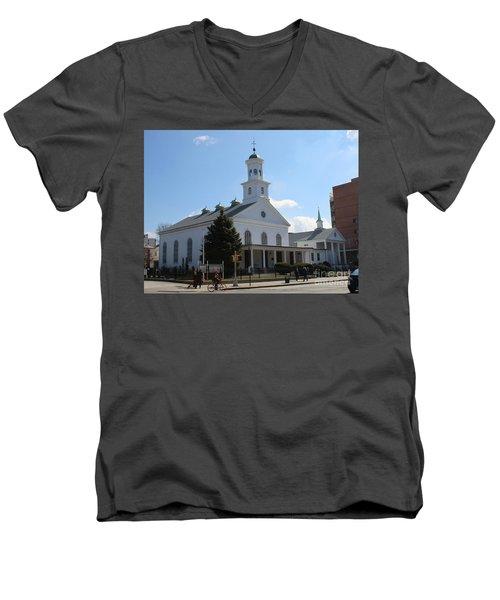 The Reformed Church Of Newtown- Men's V-Neck T-Shirt