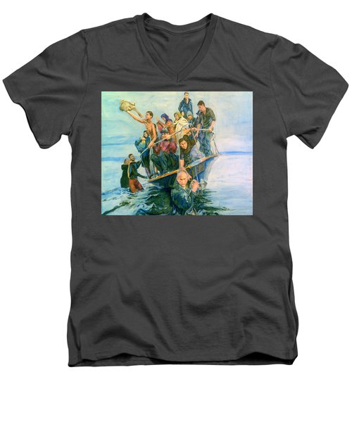 The Refugees Seek The Shore Men's V-Neck T-Shirt
