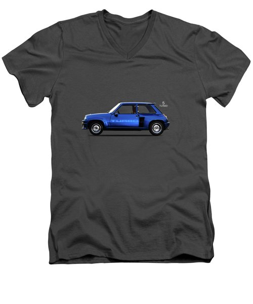 The Renault 5 Turbo Men's V-Neck T-Shirt by Mark Rogan